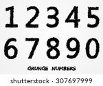 grunge numbers.set of grunge... | Shutterstock .eps vector #307697999