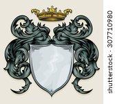 vector drawing of a   heraldic...   Shutterstock .eps vector #307710980