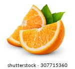 Orange Fruit Slice Isolated On...