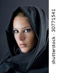 arabian woman with black veil | Shutterstock . vector #30771541