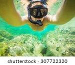 snorkeling. looking for... | Shutterstock . vector #307722320