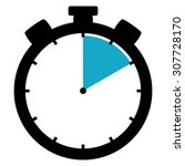 black and blue stopwatch icon... | Shutterstock . vector #307728170