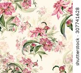 seamless pattern delicate... | Shutterstock . vector #307741628