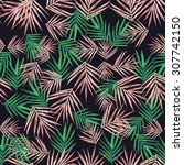seamless pattern with tropical... | Shutterstock . vector #307742150