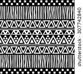 tribal seamless pattern. ethnic ... | Shutterstock .eps vector #307742840