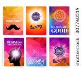template. set of poster  flyer  ... | Shutterstock .eps vector #307760519