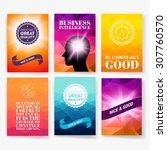 template. set of poster  flyer  ... | Shutterstock .eps vector #307760570