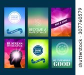template. set of poster  flyer  ... | Shutterstock .eps vector #307760579