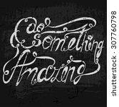 vector lettering. white letters ... | Shutterstock .eps vector #307760798
