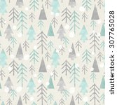 seamless christmas pattern on... | Shutterstock . vector #307765028