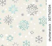 seamless christmas pattern on... | Shutterstock . vector #307765034