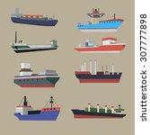 vector ships image design set...   Shutterstock .eps vector #307777898