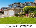 a perfect neighborhood. houses... | Shutterstock . vector #307783388