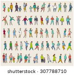 vector collection of diverse... | Shutterstock .eps vector #307788710