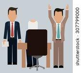 human resources digital design  ... | Shutterstock .eps vector #307799000