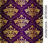 Gold On Purple Seamless Indian...