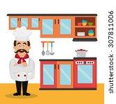 restaurant digital design ... | Shutterstock .eps vector #307811006