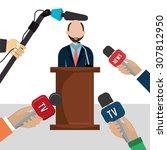 digital journalism design ... | Shutterstock .eps vector #307812950