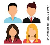 people digital design  vector... | Shutterstock .eps vector #307814954