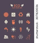 vector flat icon set   eco | Shutterstock .eps vector #307820036
