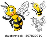 high quality detailed honey bee ... | Shutterstock .eps vector #307830710