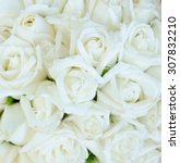 Stock photo bunch of white rose 307832210