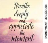 vector inspirational quote  ... | Shutterstock .eps vector #307833008