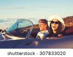 happy young couple in classic... | Shutterstock . vector #307833020