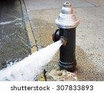 Open Fire Hydrant Water Flowin...