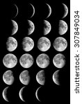Moon Phases Elements This Image - Fine Art prints