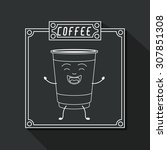 coffee shop digital design ... | Shutterstock .eps vector #307851308