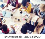 diverse group people working... | Shutterstock . vector #307851920