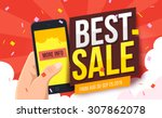 best sale banner. vector... | Shutterstock .eps vector #307862078