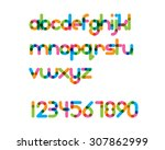 overlapping colorful rounded... | Shutterstock .eps vector #307862999