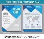 flyer design vector template in ... | Shutterstock .eps vector #307863674