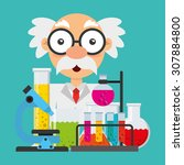 science concept design  vector... | Shutterstock .eps vector #307884800