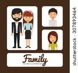family album design  vector...   Shutterstock .eps vector #307893464