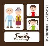 family album design  vector... | Shutterstock .eps vector #307893494