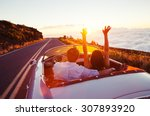 driving into the sunset.... | Shutterstock . vector #307893920