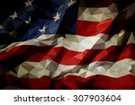 the flag of the united states... | Shutterstock .eps vector #307903604