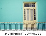 Colorful House In Havana  Cuba