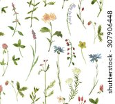 seamless floral pattern with... | Shutterstock . vector #307906448
