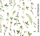 seamless floral pattern with... | Shutterstock . vector #307906454