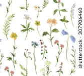 seamless floral pattern with... | Shutterstock . vector #307906460