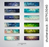 color banners set with... | Shutterstock .eps vector #307915040
