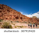 people walk to red rock canyon...