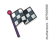 race flag doodle | Shutterstock .eps vector #307920500
