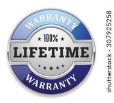 silver lifetime warranty badge... | Shutterstock .eps vector #307925258