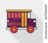 transportation school bus flat... | Shutterstock .eps vector #307936469