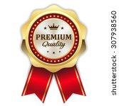 gold premium quality rosette... | Shutterstock .eps vector #307938560